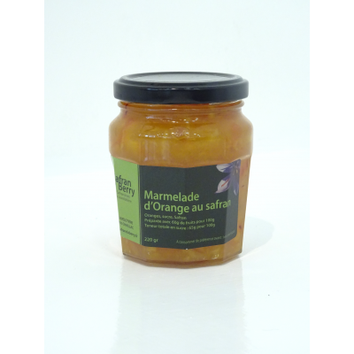 Marmelade d'orange au safran 220 g