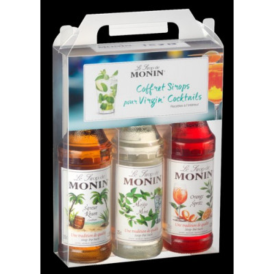 Coffret de sirop Virgin Cocktails Monin 3x25cl